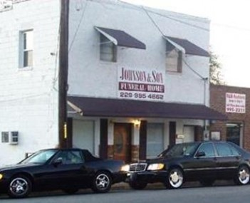 Exterior shot of Johnson and Son Funeral Service