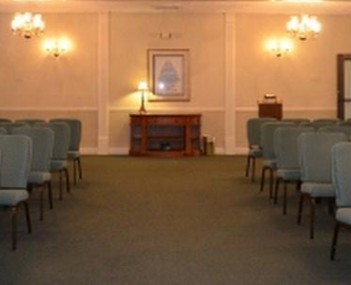 Interior shot of Lakes Funeral Home