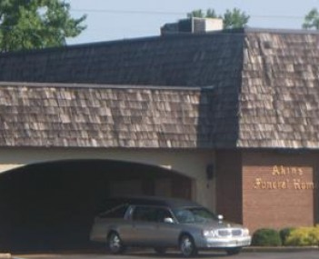Exterior shot of Akins Funeral Home Incorporated