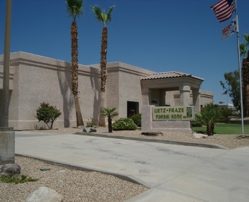 Exterior view of Lietz-Fraze Funeral Home and Crematory in Lake Havasu City, Arizona