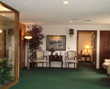 Interior view of the Lake Havasu City, Arizona location of Lietz-Fraze Funeral Home and Crematory