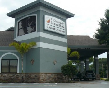 Exterior shot of A Community Funeral Home & Sunset Cremations