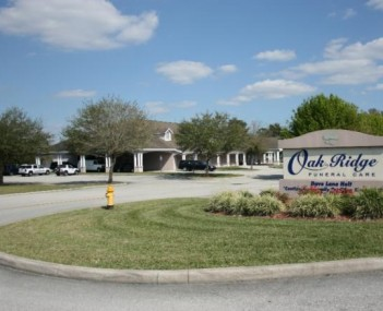 Exterior shot of Oak Ridge Funeral Care