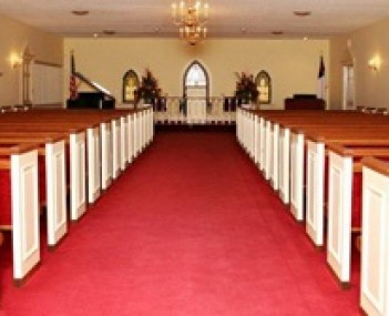 Interior shot of Mathews Funeral Home