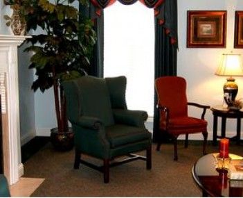 Interior shot of Johnson-Hughes Funeral Home
