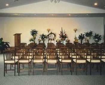 Interior shot of Speer Funeral Home