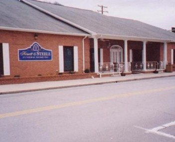 Exterior shot of  Arnett & Steele Funeral Home