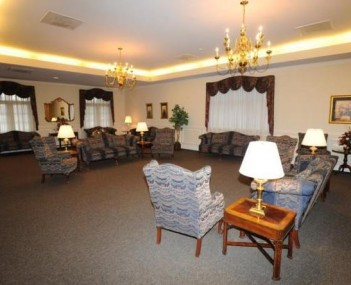 Interior shot of Mothe Funeral Home