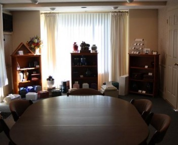 Interior shot of Sweets Funeral Home