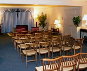 Interior shot of Thomas A Glynn & Son Funeral Home