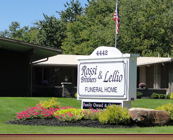 Exterior shot of Rossi Brothers Funeral Home