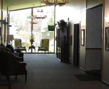 Interior shot of Rossi Brothers Funeral Home