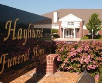 Exterior shot of Hayhurst Funeral Home