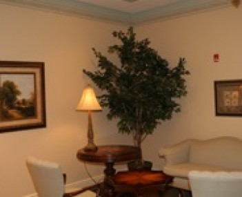 Interior shot of Huntsman Inc Funeral Home