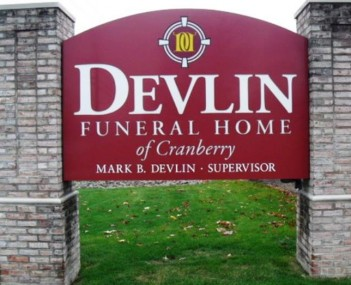 Exterior shot of Devlin Funeral Home