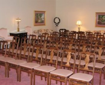 Interior shot of E Blake Collins Funeral Home