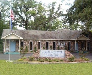 Exterior shot of Albert A Glover Funeral Home