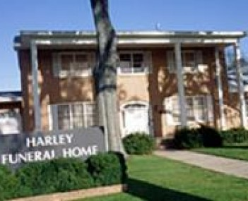 Exterior shot of Harley Funeral Home