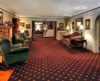 Interior shot of Berry Funeral Home