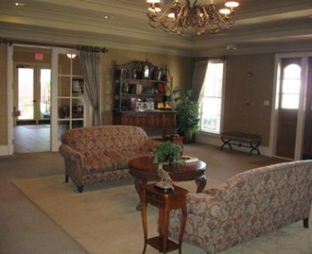 Interior shot of Carroway Claybar Funeral Home