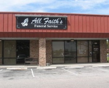 Exterior shot of All Faith's Funeral Service South
