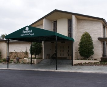 Exterior shot of Restland Funeral Home and Cemetery