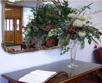Interior shot of Ben F Brown's Memorial Funeral