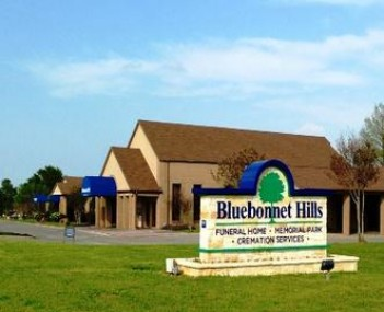 Exterior shot of Bluebonnet Hills Funeral Home