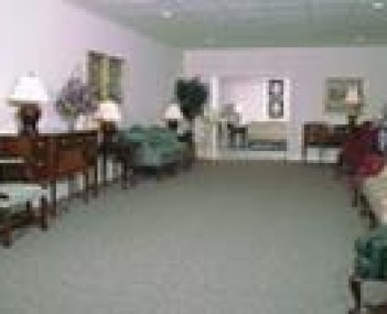Interior shot of Casdorph & Curry Funeral Home