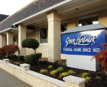 Exterior shot of Greco-Hertnick Funeral Home
