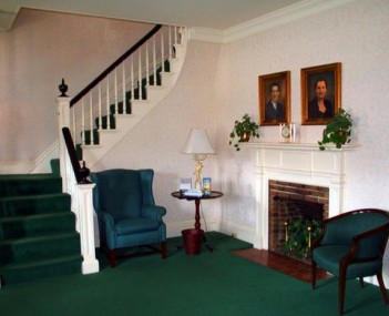 Interior shot of Green Funeral Home