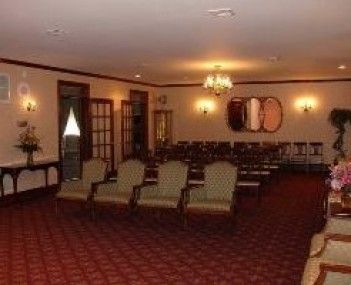 Interior shot of Barry J Farrell Funeral Home