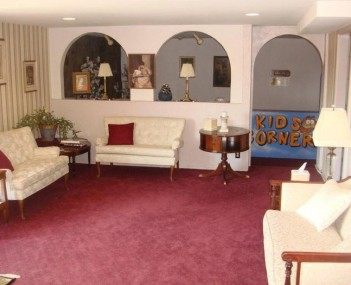 Interior shot of Carroll-Thomas Funeral Home