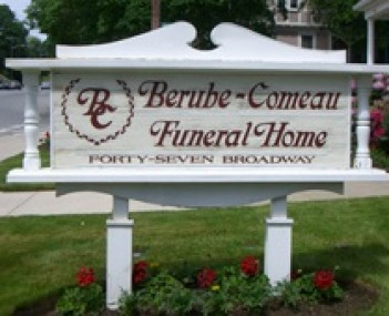 Exterior shot of Berube-Comeau Funeral Home