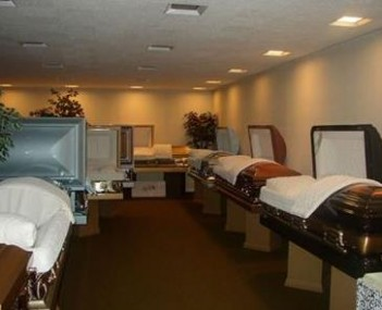 Interior shot of Dery Funeral Home