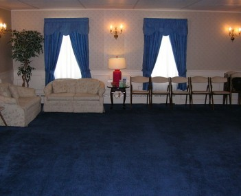 Interior shot of Deware Funeral Home