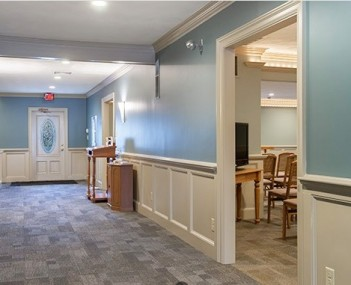 Interior shot of Perry Funeral Home