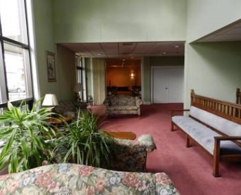 Interior shot of Waters Funeral Home