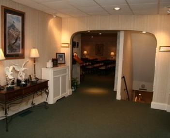 Interior shot of Kingston & Kemp Funeral Home