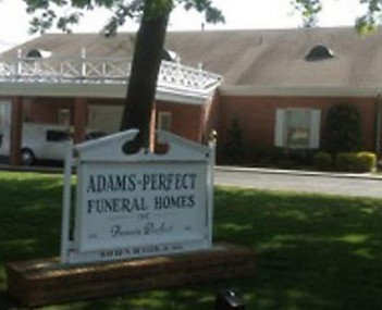 Exterior shot of Adams Perfect Funeral Homes Incorporated
