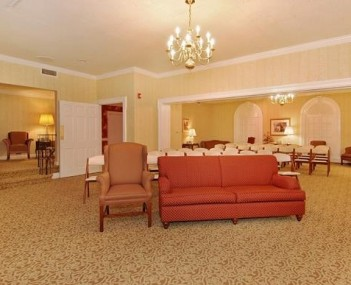 Interior shot of Leber Funeral Home