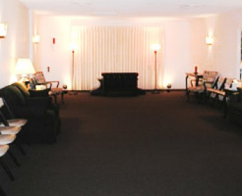 Interior shot of Boucher & Pritchard Funeral Home