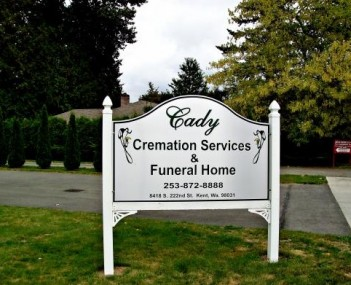 Exterior shot of Cady Cremation Service