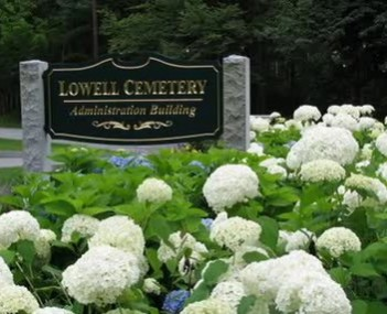 Exterior shot of Lowell Cemetery