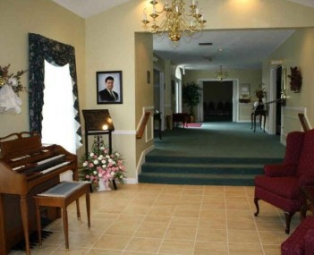 Interior shot of Cota Funeral Home