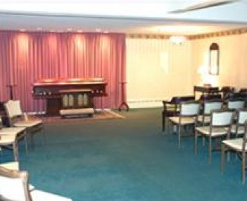 Interior shot of Mystic-Dinoto Funeral Home