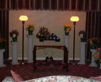 Interior shot of Ralph Hull Funeral Home