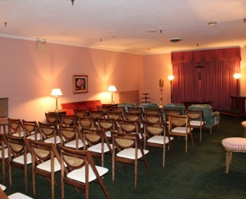 Interior shot of Williams Funeral Home