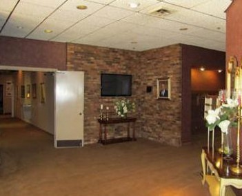 Interior shot of Hall Funeral Home