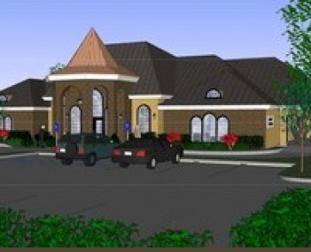 Exterior shot of Adams & Jennings Funeral Home